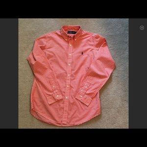 Polo button down shirt medium men's